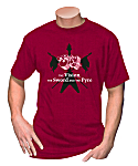 ELOY - T-Shirt THE VISION, THE SWORD AND THE PYRE 2 - Red
